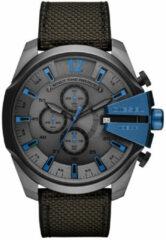 Diesel DZ4500 Horloge Mega Chief zwart/blauw 52 mm