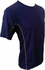 Marineblauwe KWD Shirt Diablo korte mouw - Navy - Maat S