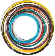 Rode Filamentpakket Velleman ABS175SET ABS kunststof 1.75 mm Zwart, Lichtblauw, Geel, Grijs, Groen, Naturel, Oranje, Rood, Blauw, Wit