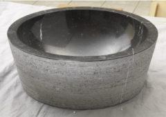 Grijze Waskom Imso Lavabo Cilindro Nero Marmer 40x15 cm