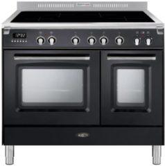 Antraciet-grijze Boretti CFBI902AN inductiefornuis met 4 inductiezones en 2 ovens