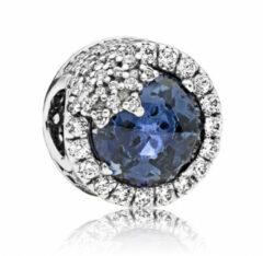 Blauwe Pandora Bedel zilver Blue Dazzling Snowflake 796358NTB