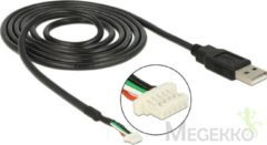 Zwarte DeLOCK 95986 USB 2.0 A 5-pin SMT Zwart kabeladapter/verloopstukje