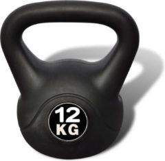 VidaXL Vida XL Kettlebell - 12 kg - Zwart