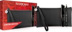 Deborah Milano Absolute Volume Mascara Kit - Limited Edition Kit met Volume Mascara Zwart, 24Ore Eyepencil Zwart & Black Pouch