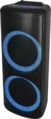 Zwarte Denver BPS-455 / Bluetooth party speaker met lichteffecten