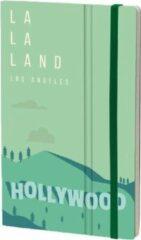 Stifflexible notitieboek Los Angeles 13 x 21 cm papier groen