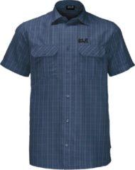 Donkerblauwe Jack Wolfskin Poloshirt - Maat M - Mannen - donker blauw