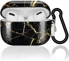Shieldcase Amazing Black Marmer Case geschikt voor Airpods Pro Case - zwart