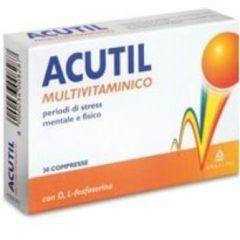 Angelini Acutil Multivitaminico integratore alimentare utile per la stanchezza e l'affaticamento 30 compresse