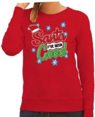 Bellatio Decorations Foute kersttrui / sweater Santa I have been good rood voor dames - kerstkleding / christmas outfit M (38)