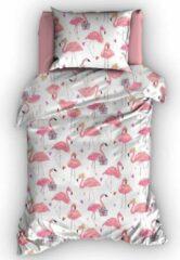 Roze Duimelot Dekbedovertrek Flamingo-100 x 135 cm