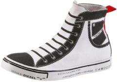 Rode DIESEL, Dames Sneakers hoog ´Imaginee Mid Slip On´, rood / zwart / wit