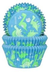 Blauwe House of Marie Cupcake Cups Dinosaurus 50x33mm. 50st.