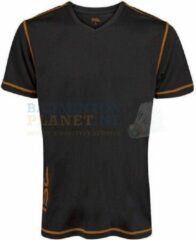 RSL T-shirt Badminton Tennis Zwart/Oranje maat XL