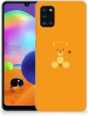 Oranje Silicone Hoesje Samsung Galaxy A31 GSM Hoesje Baby Beer