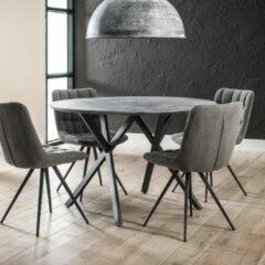 LifestyleFurn Ronde eettafel 'Nola' 120 cm, 3D-betonlook, kleur grijs