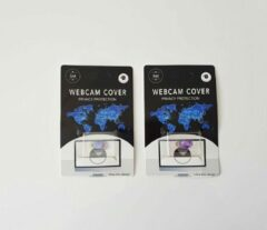 Merkloos / Sans marque Universeel Ultra Dun Webcam Cover - 2 stuks - Privacy Schuifje - Webcam Slide - Webcam Shutter - Geschikt voor Macbook, Laptop, Tablet, Smartphone - Paars en Roze