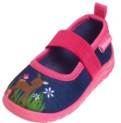 Playshoes Instappers Hertje Meisjes Navy/roze Maat 26/27
