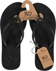 Xq Footwear Teenslippers Glitter Dames Eva Zwart Maat 40