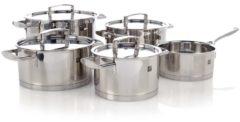Zilveren ZWILLING KITCHEN Passion Pannenset - 5-Delig + gratis Gero Soeplepel