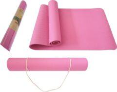 Petasos Fitnessmat TPE - Eco Friendly - Non Slip - 183 x 61 x 0.6 cm - Roze