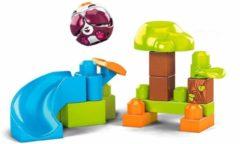 Mega Bloks constructiespeelgoed Panda glijbaan 14-delig