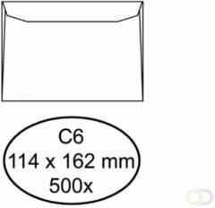 Bruna Envelop Hermes bank C6 114x162mm wit 500stuks