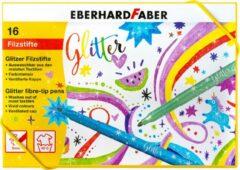 Viltstiften Eberhard Faber glitter assorti doos á 16 kleuren
