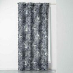 Grijze DecoToday Gordijn Met Ringen 140 cm x 260 cm Lima Tiger Jungle