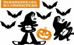 Oranje Rosami Decoratiestickers Raamstickerset herbruikbaar Halloween Pompoen Hallow-beest & vleermuizen | Rosami