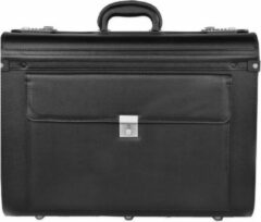 Zwarte Dermata Business Pilotenkoffer 7039XL black