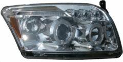 Universeel Set Koplampen Dodge Caliber 2006- - Chroom - incl. Angel-Eyes
