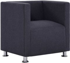 5 days Fauteuil kubus polyester donkergrijs