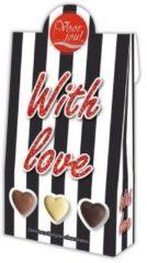 Voor Jou! Cadeau doos black & white with love 100 Gram