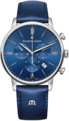 Maurice Lacroix EL1098-SS001-410-1 quartz blauw - leder band 5 ATM (douchen)