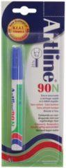 Permanent marker Artline 90 blauw (op blister)