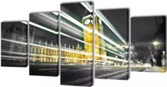 VidaXL Canvas muurdruk set Londen Big Ben 200 x 100 cm