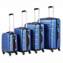 Blauwe Monzana Kofferset van 4 stuks. S/M/L/XL Basislijn