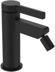Bidetkraan GRB Aura 7,5 cm met Clickwaste Zwart