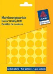 Avery Etiket Zweckform 18mm rond blister 22 vel a 48 etiketjes geel