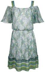 Druckkleid Laura Kent weiß/grün gemustert