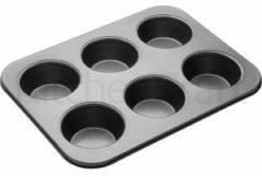 Zwarte Masterclass Non stick Muffin vorm 6 gaats groot