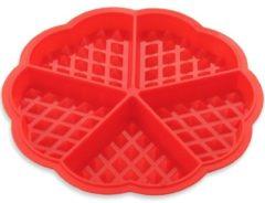 Rode KitchenBrothers - Siliconen Wafelvorm / Wafelijzer – Hartvorm - Rood