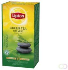 Thee Lipton groen tea met envelop 25stuks