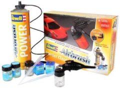 Airbrushset voor beginners Met drijfgasfles Revell 39196 Single action