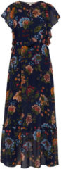 TOM TAILOR DENIM TOM TAILOR DENIM Damen Maxi-Kleid mit floralem Muster, Damen, Flower Print Blue, Größe: M, blau, gemustert, Gr.M