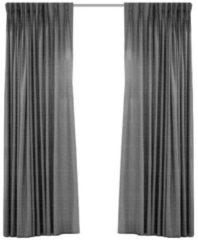 Geweven Verduisterend Gordijn - Larson -Dark Grey- Haken - 300x250 Cm