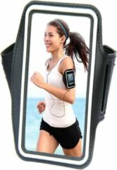 Comfortabele Smartphone Sport Armband voor uw Huawei Ascend Y221, zwart , merk i12Cover