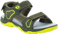 Kaki Jack Wolfskin Taraco Beach Sandal K Sandalen Unisex - Khaki / Lime - Maat 30